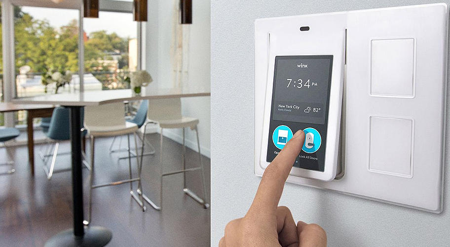 на фото система управления умным домом