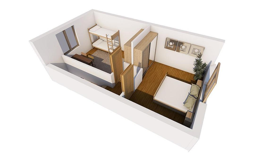 3D моделювання таунхаусів другий поверх